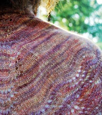 Painted Plumes shawl knitting pattern_JahDoily Knits